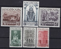 Luxembourg - Timbres  -   1938  -  Mi. 309-310-311-312-313--314 ** - Blocs & Feuillets