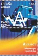 España 2014 Edifil 4883 Sello ** Marca España Avance Microscopio Electronico 1,00€ Spain Stamps Timbre Espagne Briefmark - 1931-Heute: 2. Rep. - ... Juan Carlos I