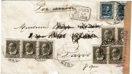 "CTN60/2 - ESPAGNE LETTRE MADRID / PARIS 17/12/1937 CENSURE MILITAIRE + CACHET ""DESPUES DE LA SALIDA"" - 1931-50 Briefe U. Dokumente"