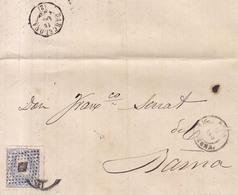 Año 1870 Edifil 107 50m Sellos Efigie Carta  Matasellos Reus Tarragona Membrete A. Suque Y Hermanos - 1868-70 Gobierno Provisional