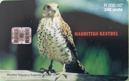 MAURICE  -  Phonecard  - Mauritius Kestrel  -  240 Units  -  R 200.00 - Mauritius