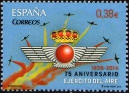España 2014 Edifil 4897 Sello ** Efemerides Aniversario Ejercito Del Aire (1939-2014) 0,38€ Spain Stamps Timbre Espagne - 1931-Hoy: 2ª República - ... Juan Carlos I