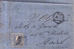 Año 1870 Edifil 107 50m Sellos Efigie Carta Matasellos Rombo Valladolid Membrete Juan A. Moran - 1868-70 Gobierno Provisional