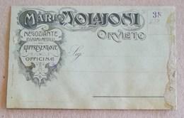 """Cartolina Postale Pubblicitaria """"Mario Molajoni"""" Orvieto - Pubblicitari"""
