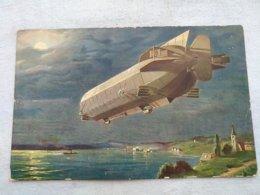 Carte Postale D'un Diregiable - Dirigeables