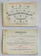 """Cartolina Pubblicitaria """"Società Veneta Di Costruzioni Meccaniche E Fonderia"""" Treviso - Publicidad"""