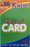 MAURICE  -  Prepaid  -  Kwépé -   Rs 50 + VAT - Mauritius