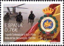 España 2014 Edifil 4906 Sello ** Efemérides Bicentenario De La Orden De San Hermenegildo Spain Stamps Timbre Espagne - 2011-... Ongebruikt