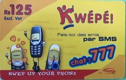 MAURICE  -  Prepaid  -  Kwépé  -  Rs 125 - Mauritius