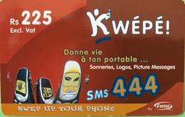 MAURICE  -  Prepaid  -  Kwépé  -  Rs 225 - Mauritius