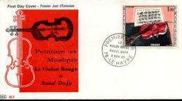 [J10636]  France - FDC - 1459 - Peinture Et Musique : Le Violon Rouge De Raoul Dufy - FDC