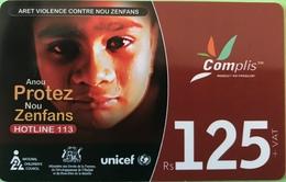 MAURICE  -  Prepaid  -  Complis  -   Rs 125 + VAT - Mauritius
