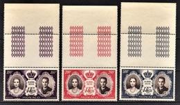 MONACO 1956 SERIE N° 63 A N° 65 -  NEUFS** - Airmail