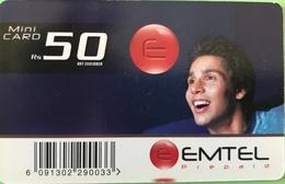 MAURICE  -  Prepaid  -  Emtel  -   Rs 50 - Mauritius