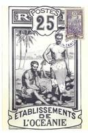 FRANCE Polynésie1978: CP Illustrée ''Musée Gauguin à Tahiti'' Et Obl. Spéciale - Frans-Polynesië