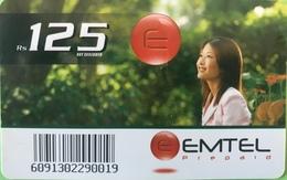 MAURICE  -  Prepaid  -  Emtel  -   Rs 125 - Mauritius