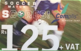 MAURICE  -  Prepaid  -  Complis - Soccer Match - Scores  -  Rs 125 + VAT - Mauritius