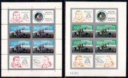 Romania 1971 Mi# Block 88-89 ** MNH - Perf. And Imperf. - Apollo 15 / Space - Unused Stamps