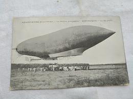 Zeppelin's Luftschiff, Aerostation Militaire Le Ballon Dirigeable Republique Vue De Profil - Dirigeables