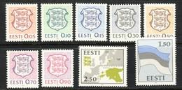 Estonia 1991 MNH ** Mi 165-175 Coat Of Arms, - Estonia