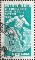 BRAZIL - CHILE'62 FIFA WORLD SOCCER CUP AND BRAZIL TWO TIMES WORLD CHAMPION 1963 - USED - Fußball-Weltmeisterschaft