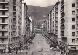 GENOVA - CORSO DE STEFANIS - NEGOZI - AUTO - INSEGNA PUBBLICITARIA BIRRA CERVISIA (VISIBILE IN PARTE) - 1958 - Genova