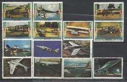 Umm Al-Qiwain 1973, Storia Del'aviazione (o), 14 Valori Di 16 - Umm Al-Qiwain