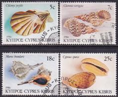 Cyprus 1986 SG #680-83 Compl.set Used Sea Shells - Cyprus (Republic)