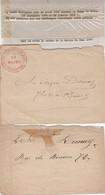 2 LETTRES. 1871 HISTOIRE POSTALE DE PARIS. GARDE NATIONALE DE PARIS - Guerra Del 1870