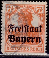 Germany, 1919 Bavaria - Bayern, Germania, 7 1/2pf, Sc#179, Used - Bavaria