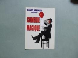 CARTE PUBLICITAIRE  David KLEINER  -  Magicien  -  Clown  -  ECHALAS  -  69  - - Zirkus
