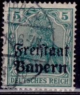 Germany, 1919  Bavaria - Bayern, Germania, 5pf, Sc#178, Used - Bavaria