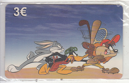 GREECE - Looney Tunes/Bugs Bunny-Daffy Duck-Taz, Amimex Prepaid Card 3 Euro, Tirage 2000, Mint - Griechenland