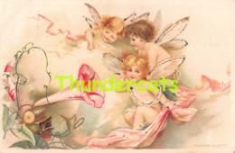 CPA LITHO ILLUSTRATEUR FILLE ENFANT  ANGE FEE   GESETZLICH GESCHTZ FAIRY ANGEL GIRL ( CLAPSADDLE - FRANCES BRUNDAGE ) - Contes, Fables & Légendes