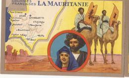 Colonies Françaises  Mauritanie Cp320 - Reclame