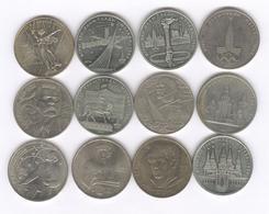 Lot De 12 Monnaies Commémoratives Russie / Russia 1 Roubles Différentes - Russland