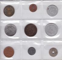 Pièces 4) Suite De 9 Pièces Différentes Plus Frais (50 Ctm ) Et Port 2 Timbres (100 Gr) - Munten & Bankbiljetten