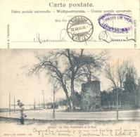 "AK  ""Lausanne - Le Tour Haldimand  (Feldpost / Rasierklingenstempel)         1904 - 1882-1906 Stemmi, Helvetia Verticalmente & UPU"