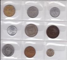 Pièces 5) Suite De 9 Pièces Différentes Plus Frais (50 Ctm ) Et Port 2 Timbres (100 Gr) - Munten & Bankbiljetten