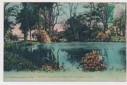 CPA Troyes Les Squares Et Promenades Le Jardin Du Rocher Circulée Timbre Tampon 1923 - Troyes