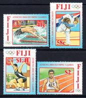 2004 Fiji Olympics Greece Complete Set Of 4 MNH - Fiji (1970-...)