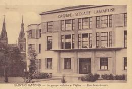 SAINT-CHAMOND - Le Groupe Scolaire Et L'église - Rue Jean-Jaurès - Saint Chamond