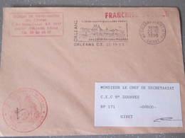 Lettre Légion De Gendarmerie Du Centre Orléans Pour Le Cec 9 Zouaves A Givet - Militares
