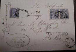 O) 1874 PUERTO RICO - ULTRAMAR. SPAIN 25c, ALCALDIA MUNICIPAL DE LA VILLA DE MAYAGUEZ CANCELLATION, MANUSCRIPT CANCELLAT - Puerto Rico