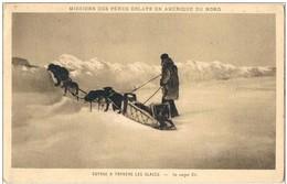 AMERIQUE Du NORD.GROENLAND . Voyage A Travers Les Glaces. - Cartes Postales