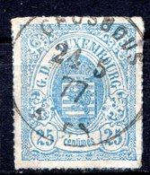 LUXEMBOURG - 1865-73 - N° 20a - 25 C. Outremer - (Percé En Lignes Colorées) - (Armoiries) - 1859-1880 Armoiries