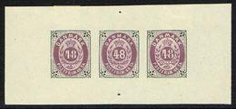1870. Bi-coloured Skilling. Reprint Of Essays. 48 Skilling Lilac/olive. Strip Of Thre... (Michel 21IB) - JF166954 - Probe- Und Nachdrucke