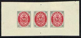 1885. NEUDRUCK BATZ ESSAYS. 3X 48 SKILLING. () - JF166955 - Probe- Und Nachdrucke