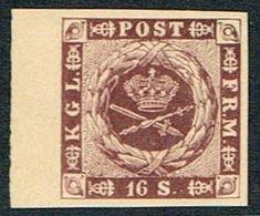 1886. Official Reprint. 16 Sk. Redlilac. (Michel 6 ND) - JF166978 - Probe- Und Nachdrucke