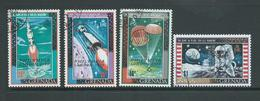 Grenada 1970 Philympia Overprints On Moon Landing Issue Set Of 4 FU - Grenada (...-1974)